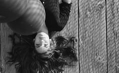 (RawFish92) Tags: 35mm minolta 7s film kodak trix 400 girl laying down wood