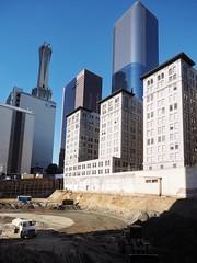 Toytown (Feldore) Tags: los angeles downtown skyscrapers construction truck california feldore mchugh em1 olympus 1240mm excavation skyline