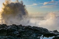 eruption (alex1derr) Tags: capeperpetua devilschurn oregoncoast rocks splash spray wave