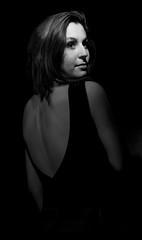 Giulia (Luca Vegetti Photography) Tags: set photoset shooting girl model people gaze blackandwhite 50mm nikon d600