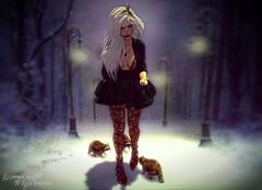 Winter Walk (Rosemaery Lorefield  The Royal Bohemian) Tags: atomic evolove moncler monso unitedandkind andika chicchica erde fashiowl mbirdie n21 nailedit raindale sanarae shinyshabby slink tannenbaum theavenue uber veechi