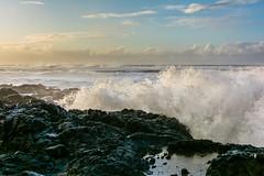 bright sun and pouring rain (alex1derr) Tags: capeperpetua devilschurn oregoncoast rocks splash spray wave