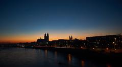 Nightshot (Froschkönig Photos) Tags: nightshot magdeburg 6000 a6000 ilce6000 sonyalpha6000 2016 sel16f28 nacht night sunset sonnenuntergang dom elbe fluss river
