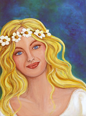 Adia (celeste_johnston) Tags: art angel painting feminine goddess divine fairy fantasy sacred