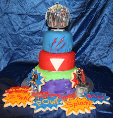 Superhero Cake (Kiss My Buttercream) Tags: hammer cookie ironman superhero hulk thor captainamerica wolverine fondant theavengers royalicing