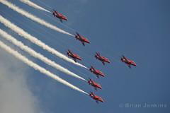 RAF Red Arrows (Bri_J) Tags: nikon redarrows raf d3200 rafredarrows waddingtonairshow2013