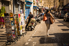 Rue d'Orsel (Fairy_Nuff (new website - piczology.com!)) Tags: street paris pedestrian montmartre postcards dorsel moped rue orsel welshot