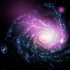 Dwarf Galaxy Caught Ramming Into a Large Spiral Galaxy (NASA, Chandra, 08/14/13)