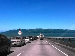 The Astoria-Megler Bridge between WA & OR on the Columbia River - 4.1 miles long. LONG bridge! ( iStone ) Tags: bridge sky oregon washington traffic columbiariver colorsplash highway101 pacificnw astoriamegler streamzoo