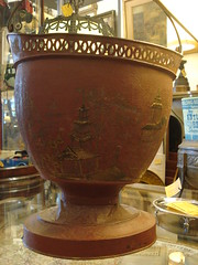"19TH CENTURY CHINOISERIE TOLE PLANTER BUCKET • <a style=""font-size:0.8em;"" href=""http://www.flickr.com/photos/51721355@N02/9632389966/"" target=""_blank"">View on Flickr</a>"