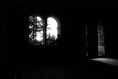 Together we could break this trap (Silbhe.) Tags: bw man film church window abbey backlight nikon san darkness kodak arc s x double bn chiesa finestra 400 epson 24 28 mm pushed nikkor eastman 35 arco f4 ai perfection controluce buio ragazzo analogic abbazia pellicola v500 galano