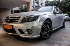 Mercedes-Benz C63 AMG (Kfir Mo$he) Tags: night germany grey mercedes benz israel amg moshe kfir c63 kfirm99