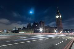 Parliament & Big Ben (SHKR | ShakerMedia) Tags: city moon slr london eye church wheel thames architecture night canon river lens landscape lights big long exposure colours angle ben wide parliament bigben midnight dslr 1022mm t3i uwa 600d