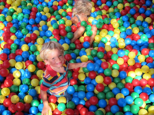 Everett & Violet In The Ball Pit