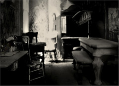 Sewing Room (Rick Exstrom) Tags: sepia sewing bodie rickexstrom