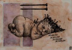 Filho-da-Puta-I (doug.firmino) Tags: arte terro morte beb criana ilustrao aguada maldito mortal medo pregos grotesco