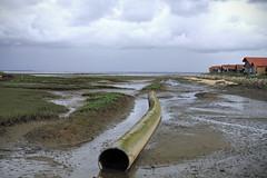 le tuyau (Steph Blin) Tags: mer port landscape tube paysage tuyau atlantique ocan canalisation gujanmestras larros