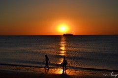 Atardeceres as. (...Away...) Tags: summer sky people sun beach beautiful river boat spain sand day waves lateafternoon sanlucardebarrameda