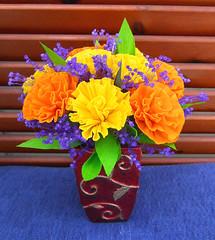 composizione floreale giallo arancione