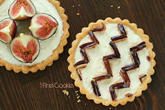 Pink and Maroon Heart Chevron Fig Tart Instructions for KitchenAid by 1 Fine Cookie (1 Fine Cookie) Tags: christmas pink food fall cooking kitchen fruit pie crust french dessert photography baking diy blog spring day pattern fig rustic cream butter valentines daytime recipes lovely tart chevron foodie kitchenaid marscapone