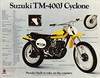 1972 TM400J Cyclone sales