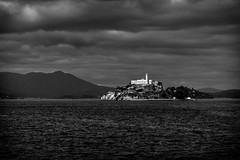Alcatraz (King Grecko) Tags: california park sea sky bw usa cloud white house black building tower water rock canon island eos bay us san francisco moody state decay cell erosion prison jail area 5d alcatraz morris federal alcapone dilapidated prisoner inmate incarceration mkiii anglin penetentiary incarcerated eos5dmkiii