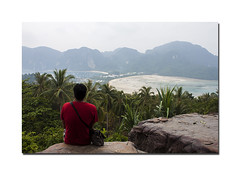 Lost (gautam023) Tags: sea beach water thailand lost phiphi hill viewpoint gautam solace pardake