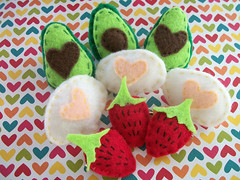 felt brooches/pins (TeaTeasTreats) Tags: pink food cute fun stuffed colorful pin sweet crafts brooch arts felt plush kawaii etsy accesories artsandcrafts teateatreats
