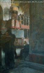Eugenio Prati Interno di San Marco con figure 1882 Olio su tela 73,5 x 50 cm Cassa Rurale di Caldoonazzo