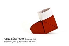 Alejandro Pascual Mrquez - Santa Claus' Boot (Alexori) Tags: santa christmas paper boot navidad origami craft noel papa papel claus alejandro papiroflexia tutorial pascual bota mrquez videotutorial alexori