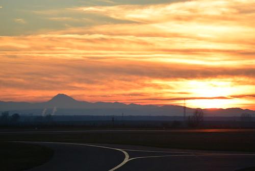 Sunset Stockerau Aerodrome