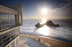 Cliff House Sunset (Iyhon Chiu) Tags: sanfrancisco sunset sea sun coast pacificocean sealrocks cliffhouse サンフランシスコ 舊金山 三藩市 2013 nd110 sutrodistrict d7000 クリフハウス 懸崖之屋