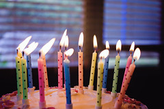 Birthday Cake for a Beautiful Girl (Tasha Chawner) Tags: birthday candles flame birthdaycake happybirthday tashachawner