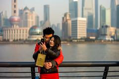 (Rob-Shanghai) Tags: china street leica portrait people colour river 50mm asia phone shanghai bokeh  pudong bund summilux50 m9 huangpu lujiazui leicam9
