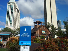 Always Welcome! (El Trinidad) Tags: california usa building architecture clouds sandiego bluesky olympus ep3 eltrinidad olympusep3