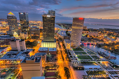 Tampa in Technicolor from Above (Photomatt28) Tags: sunset tampa florida beercan processing nik hdr selectivecolor oldcityhall photomatix kileypark sykesbuil