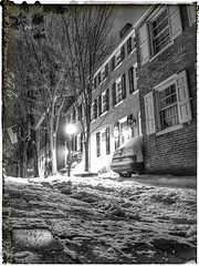 Philadelphia (michael2071) Tags: snow cold brick philadelphia night photo flag hill ground historic shutters late philly society