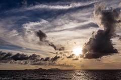 les des Saintes (galvanol) Tags: ocean sunset ferry clouds sundown maritime caribbean sunrays canonef2470mmf28lusm antilles caribbeansea antillen karibik lesserantilles lesdessaintes franzsischeantillen islandsofthesaints