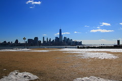 View From Pier A Hoboken NJ (pmarella) Tags: sky skyline clouds pmarella hudsonriver lowermanhattan onthewaterfront riverviewpkproductions icoverthewaterfront pierahoboken oneworldtradecenterakafreedomtower