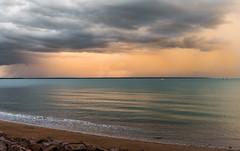 Storm before sunset (NettyA) Tags: sunset storm beach water clouds rocks day afternoon nt australia darwin yachts northernterritory yachtclub 2014 fanniebay darwinsailingclub sonynex6