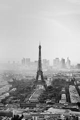 Paris 2 | France (Uwe Meis & Sascha Hojzakowa) Tags: city white black paris tower art monochrome skyline architecture landscape jack europe cityscape fine eiffel flipper