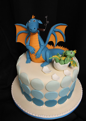 Dad n baby Dragon Cake
