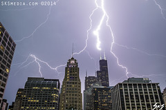 SKSmedia-IMG_7462 - Willis Tower Lightning Strike (SKSchicago) Tags: city chicago storm skyline loop bolt strike thunderstorm lightning lightningbolt willis severeweather stormscape severestorm lightningstorm cityofchicago heavythunderstorm willistower sksmediacom skschicago