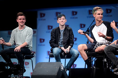 Connor Franta, Trevor Moran & Kian Lawley (Gage Skidmore) Tags: california sam trevor connor center convention jc dillon anaheim kian moran ricky lawley franta caylen 2014 youtube vidcon pottorff our2ndlife