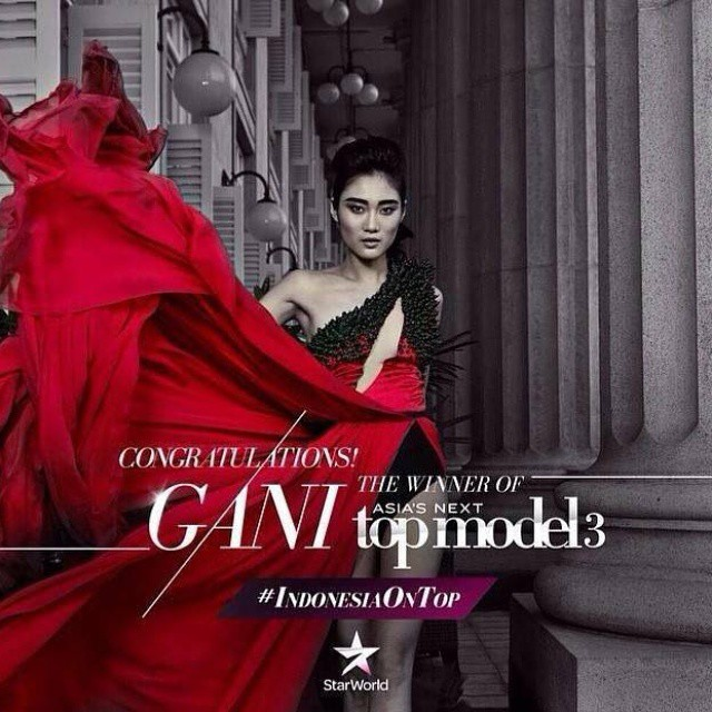 Congratulations GANI from INDONESIA. Youre The Winner of Asias Next Top Model, Cycle 3.. PROUD OF YOU GANIIII. #AsNTM3 #IndonesianModel #AsNTM #Asian