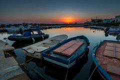 Sibiliana Sunset (luigig75) Tags: sicily sicilia italia italy torre sibiliana petrosino marsala trapani sunset tramonto boats barche harbour porticciolo marina canonefs1022mmf3545usm hdr 70d landscape seascape sun summer