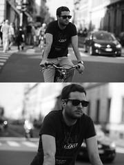 [La Mia Citt][Pedala] (Urca) Tags: milano italia 2016 bicicletta pedalare ciclista ritrattostradale portrait dittico nikondigitale mir bike bicycle biancoenero blackandwhite bn bw 89854