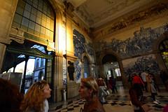 Oporto railway station (talourcera) Tags: sobento 20000azulejos azulejos glazedtile tiles railwaystation oporto portugal porto principiossigloxx early20thcentury 20000tiles