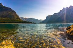 Lake Minnewanka - Water Level view (Shane Kiely) Tags: banff canada lakeminnewanka tunnelmountain vermillionlakes