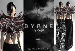 (BYRNE) LizOutfitAD-White (ByrneDarkly-www.tartiste.wordpress.com) Tags: swank byrne skirt collar lace maxi mesh fashion secondlife
